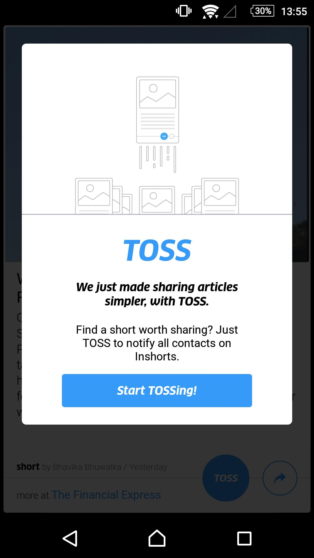 inshorts toss