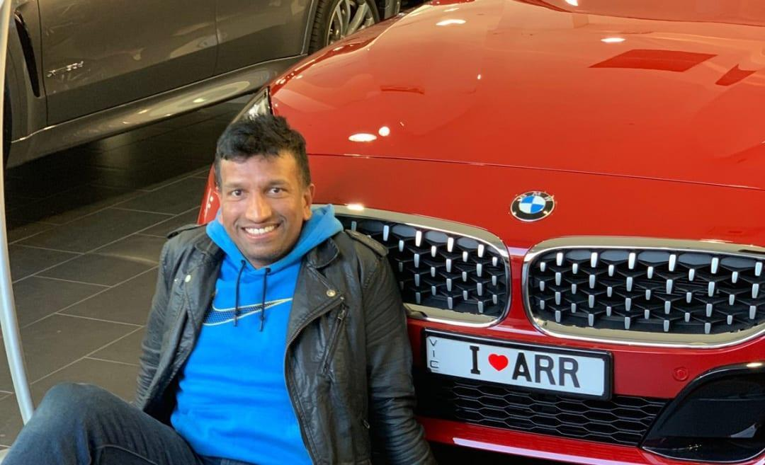 Fan shares pic of BMW with 'I love ARR' plate, AR Rahman replies