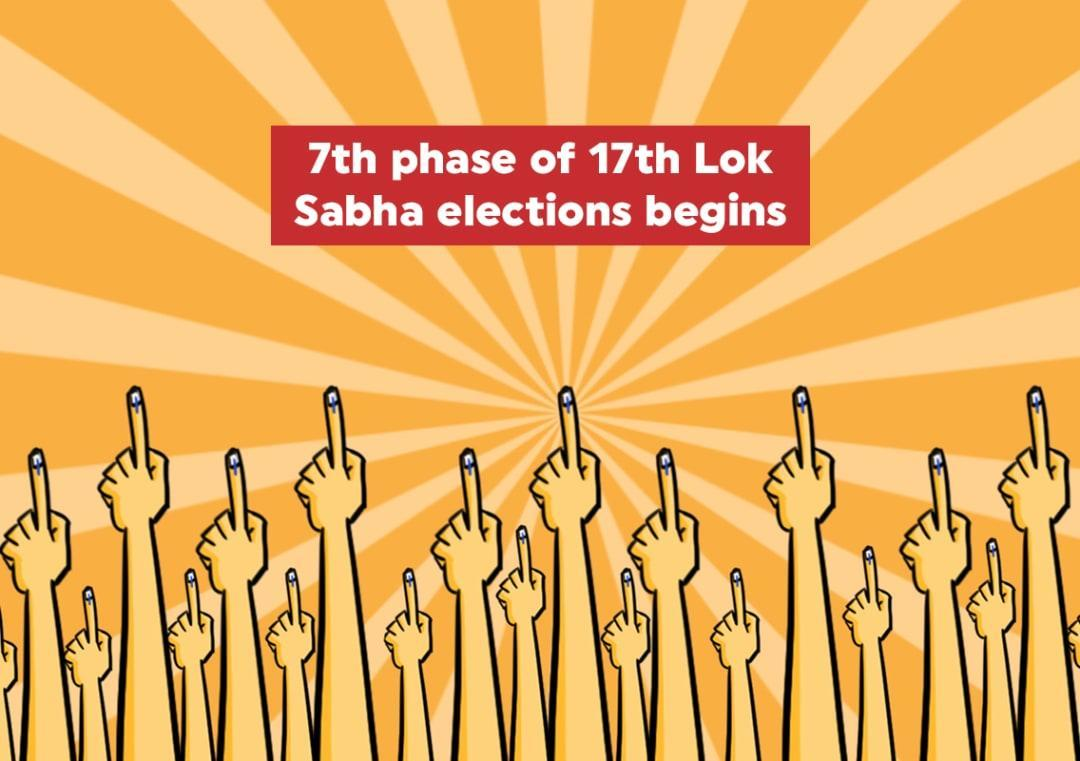 Voting begins for 7th and final phase of 17th Lok Sabha elections
