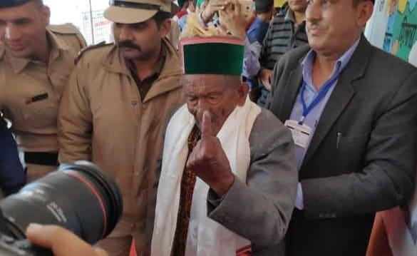 103-year-old Independent India's first voter casts vote in Himachal