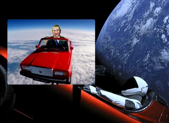Russian scientists mock Elon Musk, launch toy car to space